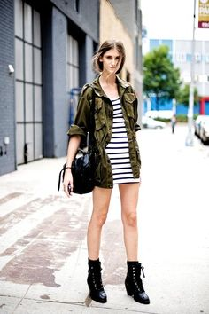 5. Modern Military - 10 Fall Fashion Trends for Teenagers ... | All Women Stalk