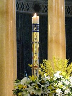 The most beautiful Easter Candle I've ever seen! || Paschal Candle 2013 - in situ | Flickr - Photo Sharing!