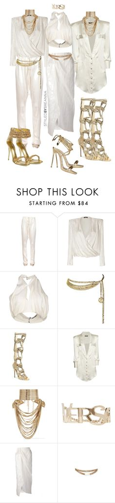 """""""Untitled #2973"""" by breannamules ❤ liked on Polyvore featuring moda, B*+S, Balmain, Chanel, Jimmy Choo, Rosantica, Versace, Baja East, B-Low the Belt y Dsquared2"""