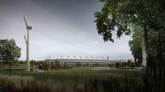 Olsztyn Stadium on Behance Wind Turbine, Competition, Concept, Photo And Video, City, Behance, Places, Image, Behavior