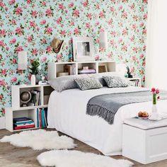 floral wallpaper for bedroom