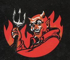 From some sort of fireworks package. Devil Aesthetic, Red Aesthetic, Arte Horror, Horror Art, Firework Colors, Vintage Fireworks, Devil Tattoo, Photographie Portrait Inspiration, Satanic Art