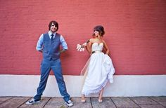 Read all about Jenna & Jason's laid back rocker chic wedding on Poptastic Bride. Photos by Matt Andrews.