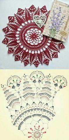 Free Crochet Doily Patterns, Crochet Mat, Crochet Doily Diagram, Crochet Dollies, Thread Crochet, Filet Crochet, Crochet Designs, Crochet Crafts, Crochet Flowers