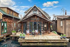 You Have to See Inside This Storybook Seattle Houseboat — Property Crush (Apartment Therapy Main) Houseboat Living, Houseboat Ideas, Seattle Homes, Lakefront Property, Floating House, Tiny House Movement, Rustic Design, Fairy Tales, House Styles