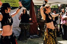 belly dance performance on steampunk hill,