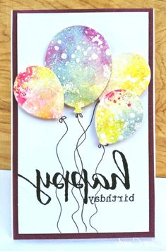 DIY Birthday Cards - Watercolor Birthday Card - Easy and Cheap Handmade Birthday. DIY Birthday Cards - Watercolor Birthday Card - Easy and Cheap Handmade Birthday Cards To Make At Home - Cute Card Proje. Watercolor Birthday Cards, Watercolor Cards, Salt Watercolor, Simple Watercolor, Watercolor Ideas, Tarjetas Diy, Handmade Birthday Cards, Easy Diy Birthday Cards, Happy Birthday Mom Cards