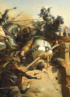 Bayard defending the bridge at Carigliano