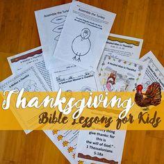 Thanksgiving Bible Lessons for Kids, Preschool, Thanksgiving Lessons for Church, Church, Faith, Kids, Children