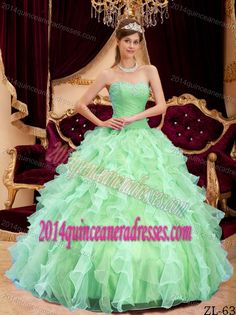 19f41f147e7 Apple Green Ball Gown Sweetheart Fitted Quinceanera Dresses in Organza  Lavender Quinceanera Dresses