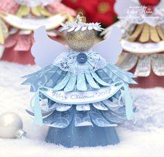 "Brigit's Scraps ""Where Scraps Become Treasures"": Christmas Angel Ornaments and Box"