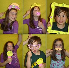 free 'photobooth' for kids printables