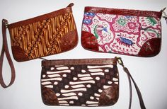 Batik Ria: Clutch Batik Modern Lunch Boxes, Cool Lunch Boxes, Plastic In The Sea, Handmade Clutch, Elephant Pattern, Insulated Lunch Bags, Cute Purses, Brown Bags, Cool Suits