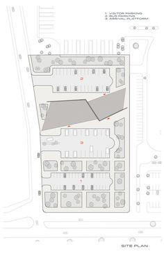 Kayseri West City Bus Terminal,Site Plan