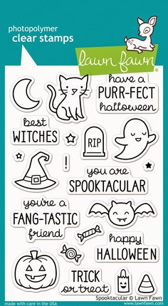 New July 2014 Lawn Fawn release-Spooktacular stamp set; comes with coordinating Lawn Cuts
