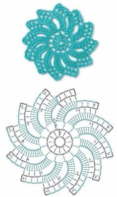 Not your grandmother's doily - Spectacular suede crochet doily - Free app . Not your grandmother's doily - Spectacular suede crochet doily - Free pattern, Motif Mandala Crochet, Crochet Flower Squares, Crochet Doily Diagram, Crochet Mandala Pattern, Crochet Circles, Crochet Motifs, Crochet Flower Patterns, Crochet Chart, Thread Crochet
