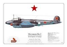 "Pe-2 ""Buck"" '1 Blue' CCCP 1945"