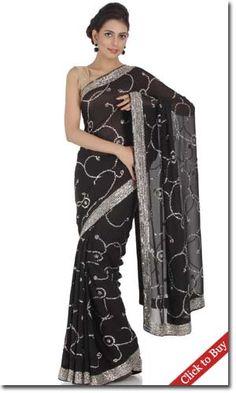 Chhabra555-Black-Georgette-Embroidery-Saree