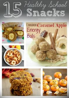 Audra Balof -  15 Healthy School Snacks