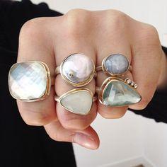 POW. These @jamiejoseph1 neutrals are anything but boring. #jamiejoseph #rings #neutrals #finejewelry
