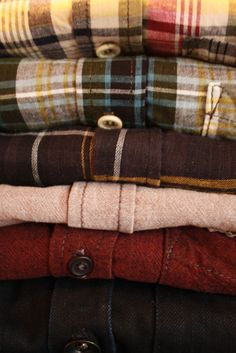 Be sure to stock up on flannels for the winter. Good for staying in or stepping out.