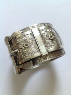 Hinge Bangle | Designer ? Fine Victorian Sterling Silver. ca. 1880