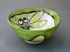 Majolica Pottery Small Bowl Earthenware by ClayLickCreekPottery, $25.00