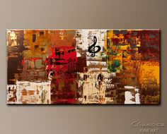 Abstract Art Paintings for Sale - Music World Tour - Music Art ...