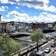 The Iconic Bridge that crosses the River Liffey, which runs directly through the city centre, separating the North from the South