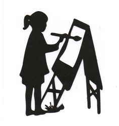 painting silhouette - Google Search