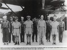Lt. Adrian Marks, a resident of Frankfort, Ind., was largely responsible for the rescue of 56 survivors of the cruiser USS Indianapolis. Marks is seen here, fourth from right, with the crew of his PBY Catalina Read more: http://worldwartwo.filminspector.com/#ixzz3lmCe5LNX Under Creative Commons License: Attribution Follow us: @jamesjbjorkman on Twitter