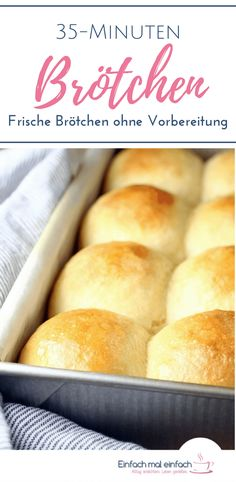 Brötchen If you are looking for a quick recipe for baking bread rolls, then you don't have to resort to a recipe without yeast. These quick rolls are ready in 35 minutes and without preparation. They are special due to their similarity to milk rolls Yeast Free Recipes, Easy Bread Recipes, Quick Recipes, Baking Recipes, Pizza Recipes, Baking Buns, Bread Baking, Quick Rolls, Homemade Rolls