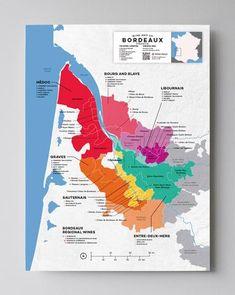 Maps of Wine Regions & Appellations by Country Wein Poster, Bordeaux Wine Region, Margaret River Wineries, Wine Folly, Wine Safari, Barolo Wine, Wine Gift Baskets, Wine Education, Spanish Wine