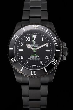 Rolex Bamford Submariner Black Dial Roman Numerals Black Ionized Case And Bracelet