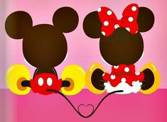 Mickey and Minnie Disney Crafts, Disney Fun, Disney Girls, Disney Magic, Disney Mickey, Disney Movies, Disney Pixar, Walt Disney, Disney Characters
