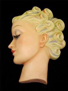 Iconic Goebel Art Deco Head Profile Designed by Miss Agnes Richardson c1935 49