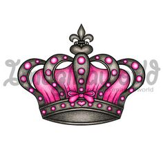 Pink crown design