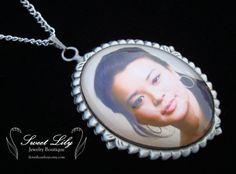 Custom Oval Renaissance Photo Pendant  30x40mm by ilovethoseboys