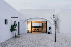 Designed by Andrew Trotter, an architect and founder of Openhouse Magazine, for his friend Carlo Lanzini, Masseria Moreseta is located on a 12-acre olive g