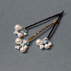Bridal hair pins Swarovski pearl pin wedding hair pin by Artual