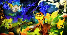 Draw the World #art #artwork #painting #animals #nature #vivid #bright #world #energy