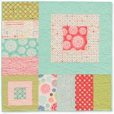 sweet cheeks quilt :: unisex baby quilt :: odds and ends for Moda