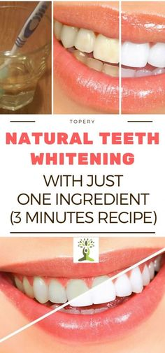 NATURAL TEETH WHITENING WITH JUST ONE INGREDIENT (3 MINUTES RECIPE)-