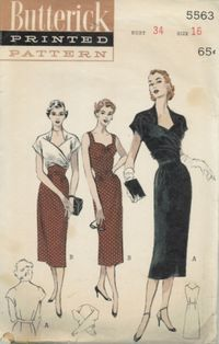 Butterick 5563; ca. 1951; Jacket-dress ensemble that really gives you two…