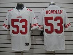 nfl jerseys best selling Nike 49ers  53 NaVorro Bowman White Men s Stitched NFL  Elite Jersey 3b64609ac
