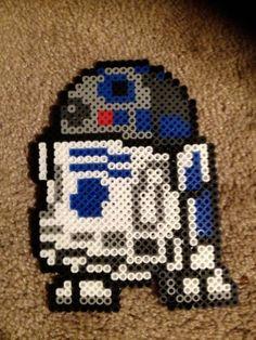 R2D2  Star Wars Perler Bead Pixel Art by 8BitLegit