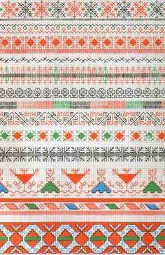 Russian folk embroidery (pattern 1)