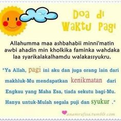 Doa pagi~ *I recite it for the people I love.