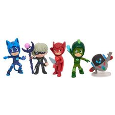 Go into the night to save the day with the PJ Masks Super Mooon Adventure Collectible Figure Set! Catboy, Owlette, and Gekko stand approximately tall a. Lego Duplo, Power Rangers, Pjmask Party, Yoshi, Crime, Simpsons, Toys R Us Canada, Pj Mask, Toy R
