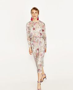 ZARA - WOMAN - PRINTED FLOWING DRESS